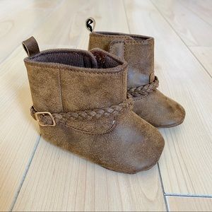 Carter's Baby Brown Soft Sole Western Boots, 3-6mo